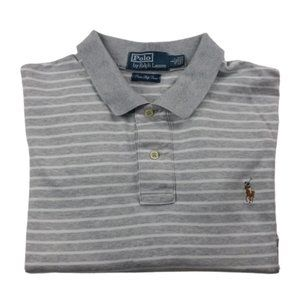 Polo by Ralph Lauren Striped Grey/White Shirt